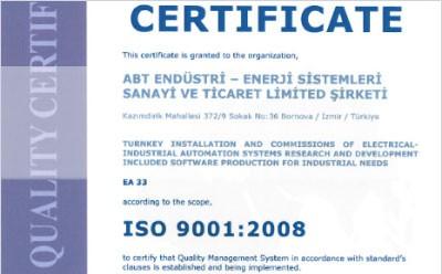ISO 9001:2008 Belgemiz
